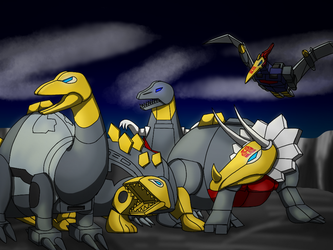 Dinobots by TheRealWolfdragonpup