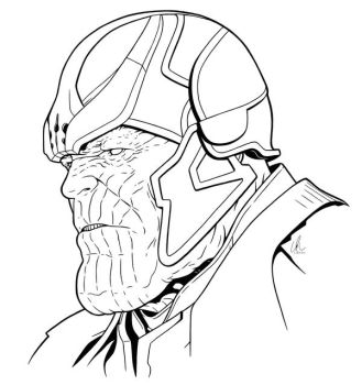 Thanos - Mad Titan by DynamixINK