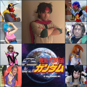Mobile Fighter G Gundam Cosplay Collage by IronCobraAM