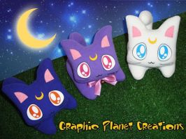 Sailormoon Kittens Plushies by GraphicPlanetDesigns