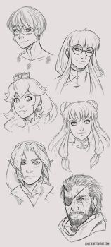 Portraits 1-6 by Lineith