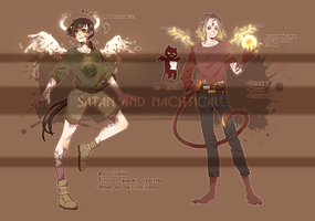 Fallen angel and demons adoptables (SOLD) by NachtigallSoSad