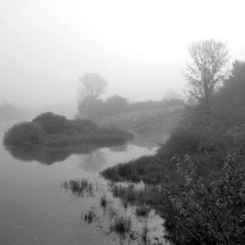 River in the fog by Ilharess