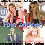 Four Actions Avril Lavigne by TheSofterSideAv