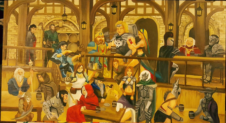 Dungeons and Dragons Iconic Characters INN by cyderak
