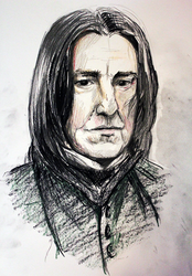 (Video Included) Quick Sketch: Professor Snape by BemiTellove