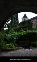 Castle Garden Background by Kuoma-stock