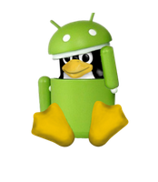 Tux in Android Robot Costume 2 by Whidden