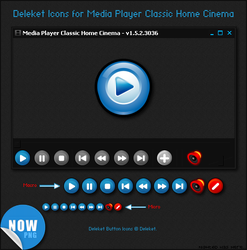 Deleket Buttons for MPC-HC by Nighted