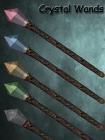 3d Stock Crystal Wands by Delekatala-stock