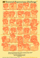 30 expressions meme! by Spazzan
