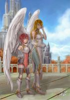 Commission: Aliciania and Seraphandra. by aiyeahhs