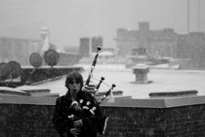 bagpipes on the roof by natethan