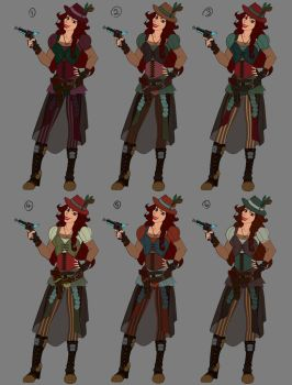 Female Character Colour Combos by LisaGunnIllustration