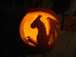 My Pumpkin, dragon by DragonOfHuecoMundo