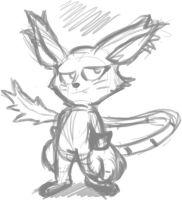Quick Gatomon Scribble by Adam-Clowery