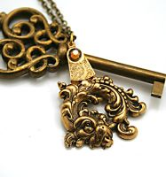 Steampunk Necklace Chinese Dragon by byrdldy