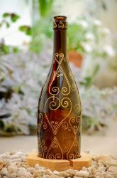 Bottle Lamp and candle 07 by pilot4ik