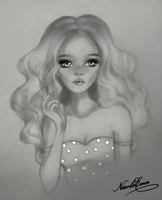 girl pencil by Nicole-Ennet