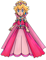 Queen Peach (Collab) by Luna2528CP