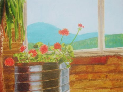 Geraniums Before the Horizon (copy) by Avey13
