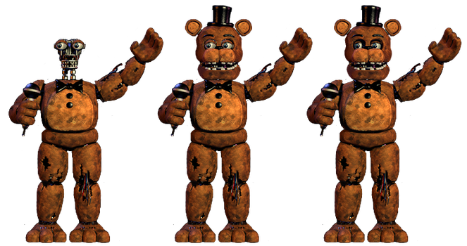 Withered Freddy Full Bodies Resource by DaHooplerzMan