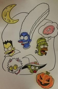 Unfinished Simpsons For Halloween... by TacoElGatoComics