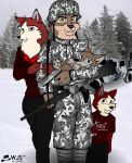 Anthro Army Family by wolfjedisamuel