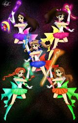 Red Velvet As Sailor Scouts by Pioko6642