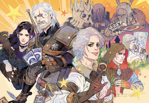 The witcher3:Gwent by freestarisis