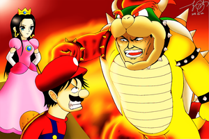 Super Mario Bros. x One Piece by 7colors0