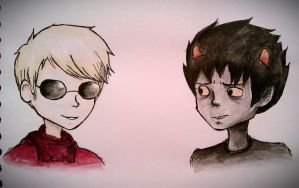 Dave and Karkat~ Homestuck by mell1you0