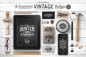 American Vintage Badges Part.2 by webdesigngeek