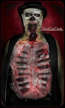 What Time is it zombie spfx makeup by samanthawpg