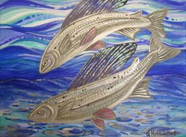 Arctic grayling by MitziMonster