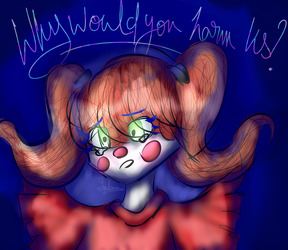 First draw on Graphic Tablet ! Circus Baby by Mywasasi