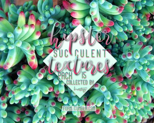 Hipster Succulent Textures Pack  By Hasty by hasssty