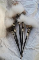 African Porcupine Hairsticks by TarpanBeadworks