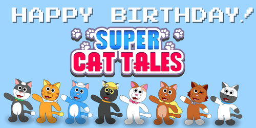 Happy Birthday! Super Cat Tales by Rebow19-64