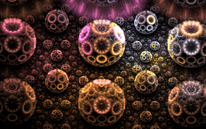 balls with lightful rings by Andrea1981G