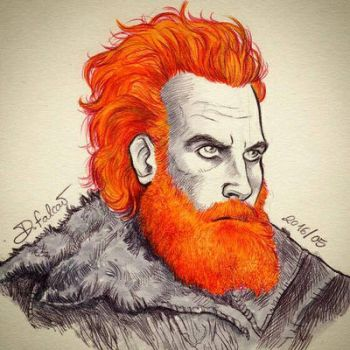 Tormund - kissed by fire by Psamophis