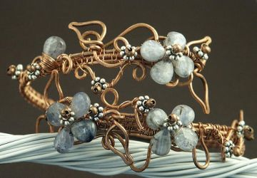 Copper Wire Kyanite Arm Band by WiredElements