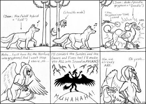 Of Doodles and ScandinAVIANS by swandog