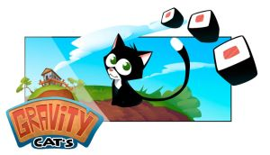 Gravity Cats announce art by Rayvell