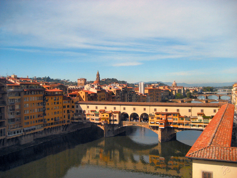 Ponte Vecchio in Florence, Italy by JJPoatree