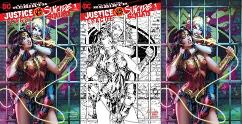 Justice League vs Suicide Squad final covers by Dawn-McTeigue