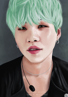 Mint Yoongi - Commission by iezz