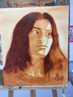 Oil painting self portrait by CamoLizzy6209
