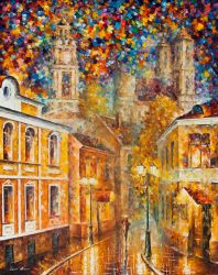 Gold City by Leonid Afremov by Leonidafremov
