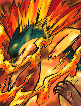 Typhlosion's Flame Wheel by ClefdeSoll